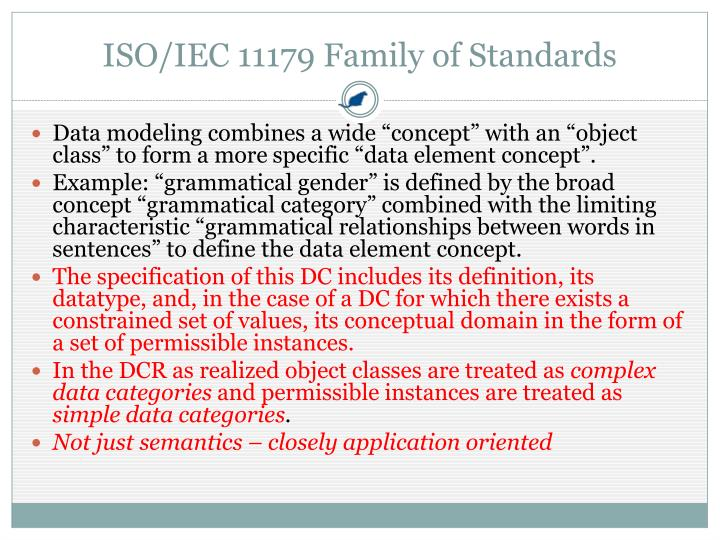 ISO/IEC 11179 Family of Standards