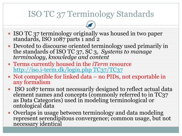 ISO TC 37 Terminology Standards