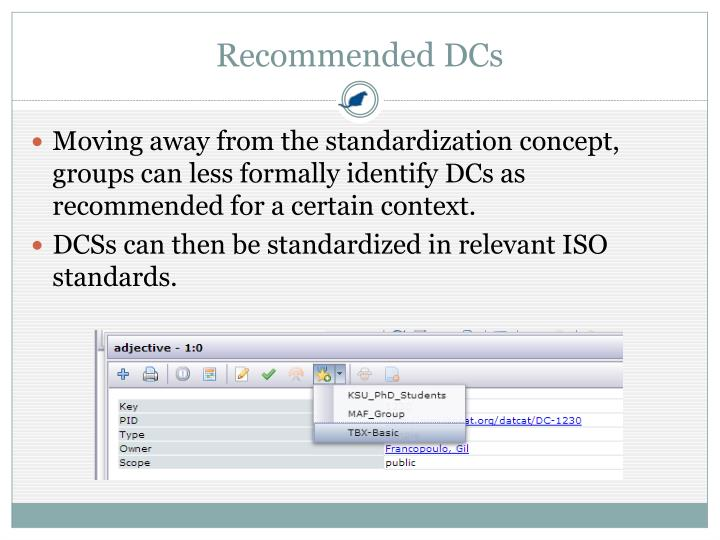 Recommended DCs