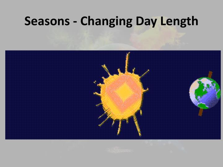 Seasons - Changing Day Length