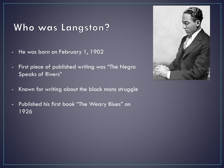 the role of langston hughes in the harlem renaissance Langston hughes and his importance in the harlem renaissance during the 1920's.