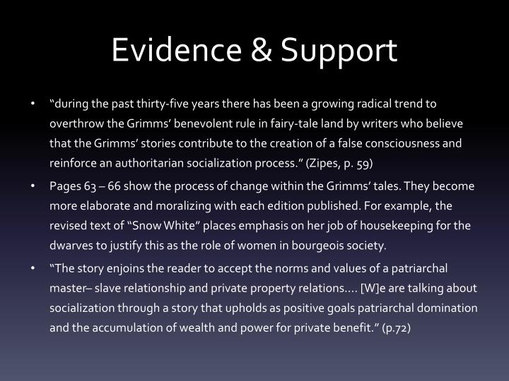 Evidence & Support
