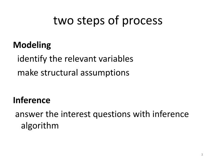 Two steps of process