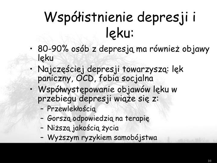Współistnienie depresji i lęku: