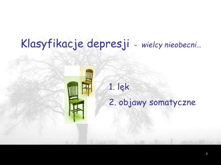 Klasyfikacje depresji