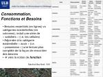 consommation fonctions et besoins