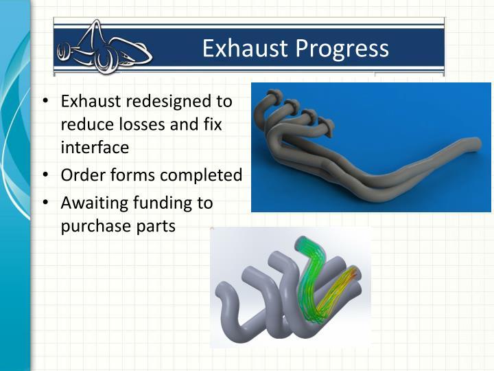 Exhaust Progress