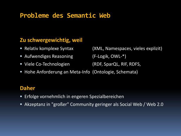 Probleme des semantic web