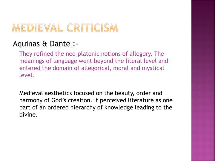Medieval Criticism