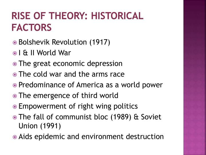 Rise of Theory: Historical Factors