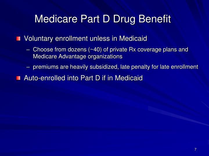Medicare Part D Drug Benefit