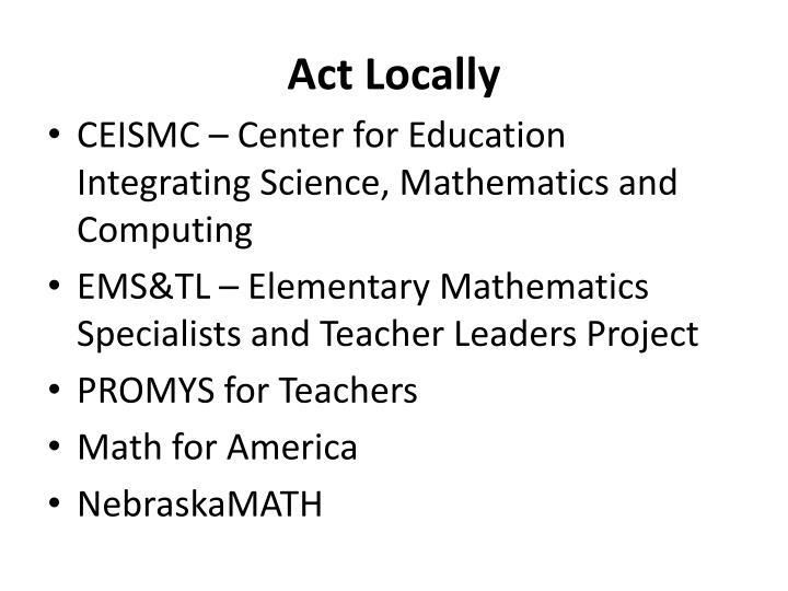 Act Locally