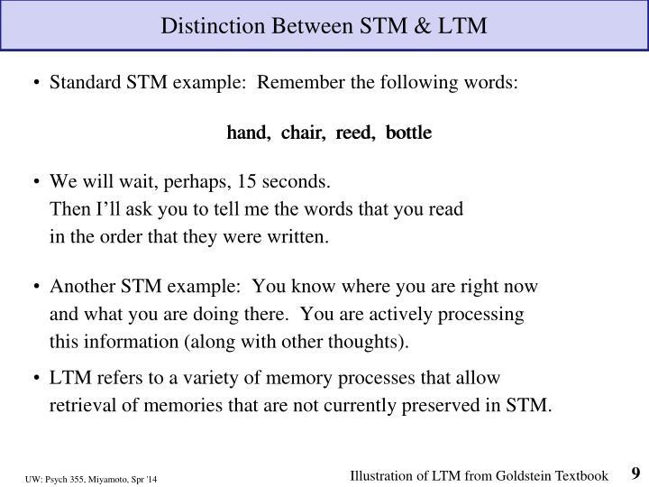 Distinction Between STM & LTM