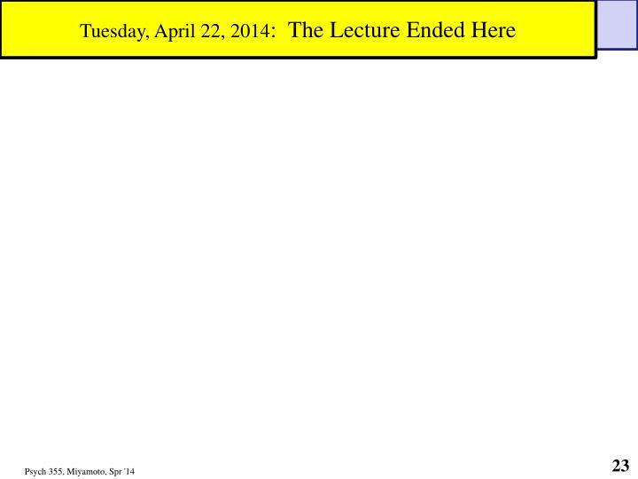 Tuesday, April 22, 2014