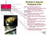 hydride catalyzed oxidation of pu