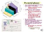 pu metal phases