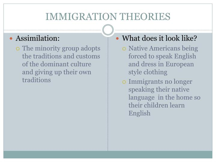 IMMIGRATION THEORIES