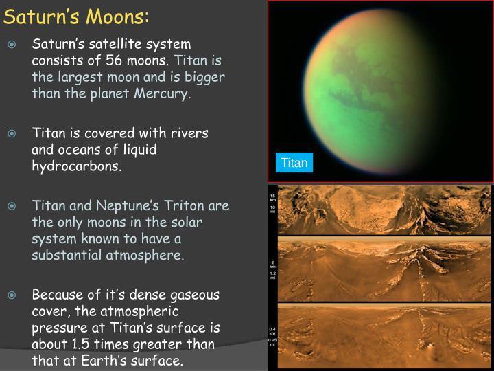 Saturn's Moons: