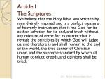article i the scriptures