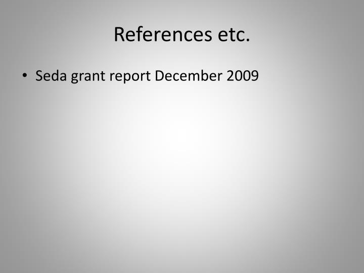 References etc.