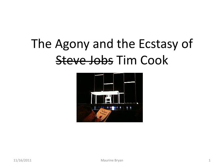 the agony and the ecstasy of steve jobs tim cook n.