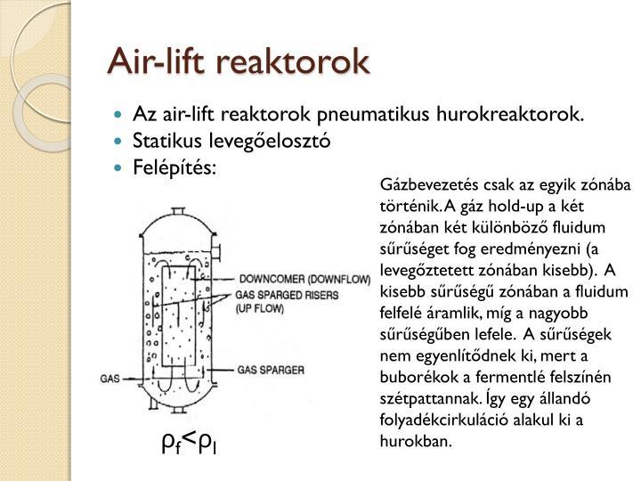 Air-lift reaktorok