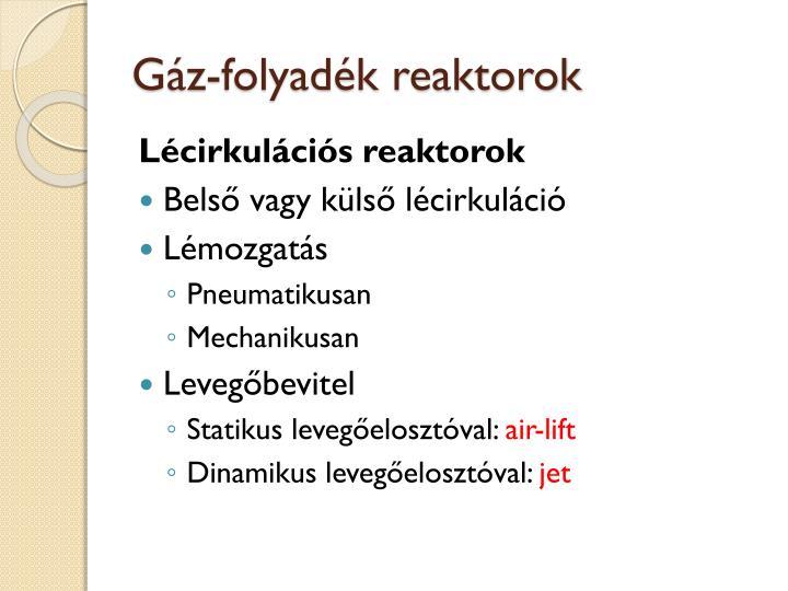 Gáz-folyadék reaktorok