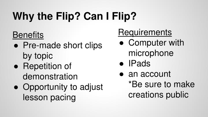 Why the Flip? Can I Flip?