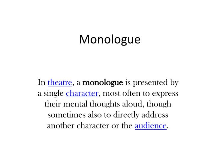monologue n.