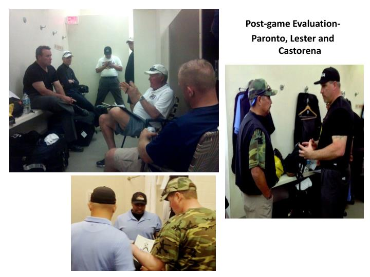Post-game Evaluation-