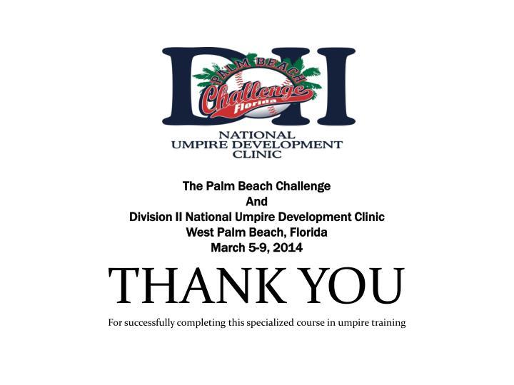 The Palm Beach Challenge