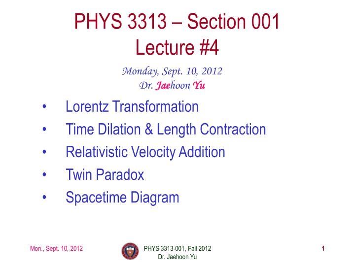 phys 3313 section 001 lecture 4 n.