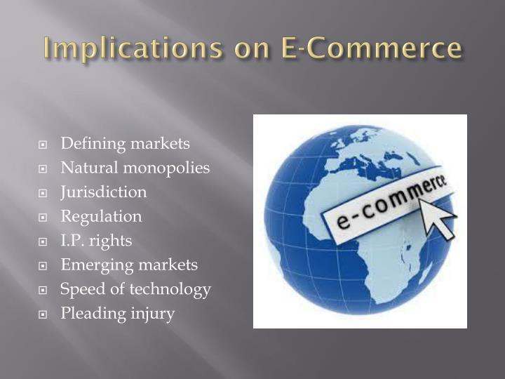 Implications on E-Commerce