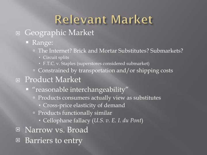 Relevant market