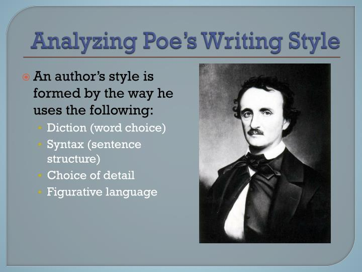 analyzing poe s writing style n.