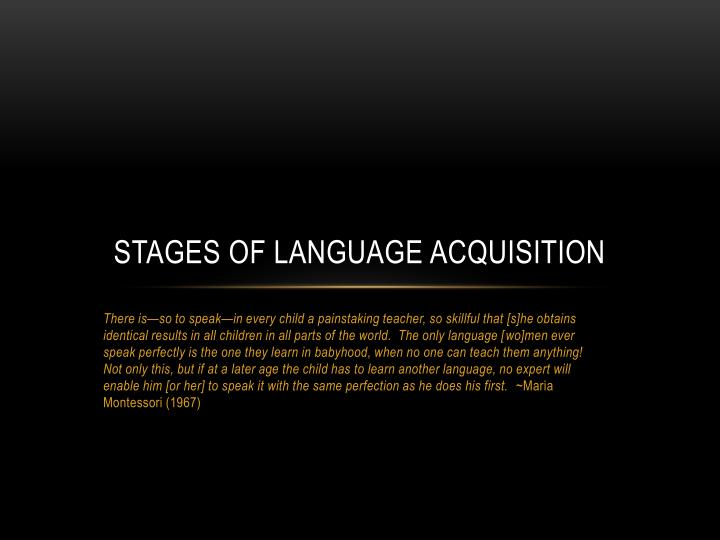 stages of language acquisition n.
