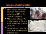 income of afghanistan