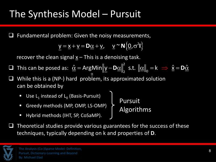 The Synthesis Model – Pursuit