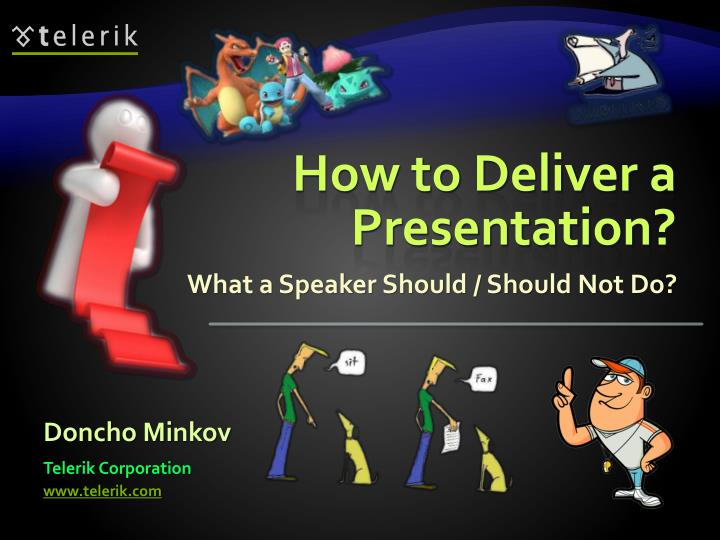 how to deliver a presentation n.