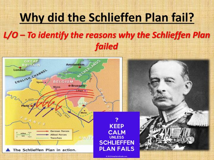 lists of why the schlieffen plan What is the schleiffen plan the schlieffen plan was the operational plan for a designated attack on france once russia, in response to international tension.