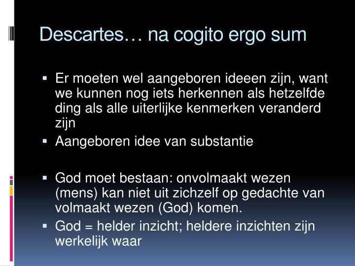 Descartes na cogito ergo sum