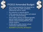 fy2013 amended budget