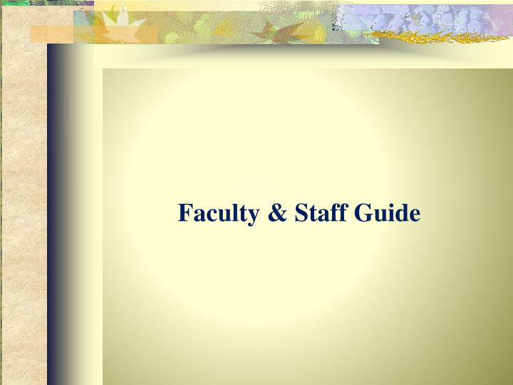 faculty staff guide n.