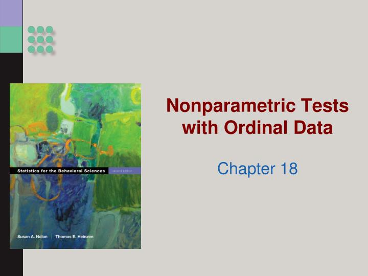 nonparametric tests with ordinal data n.