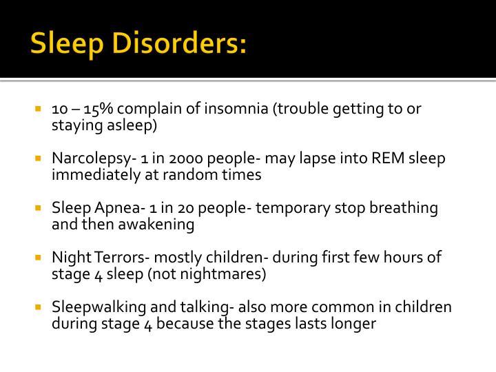 Sleep Disorders: