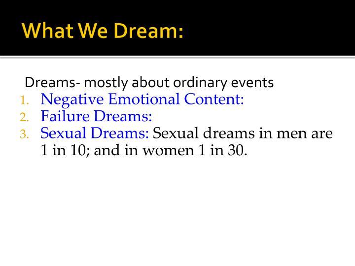 What We Dream: