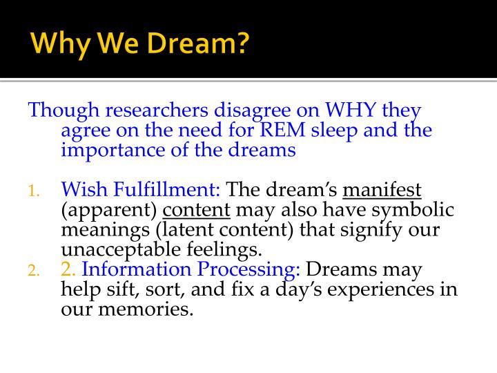 Why We Dream?