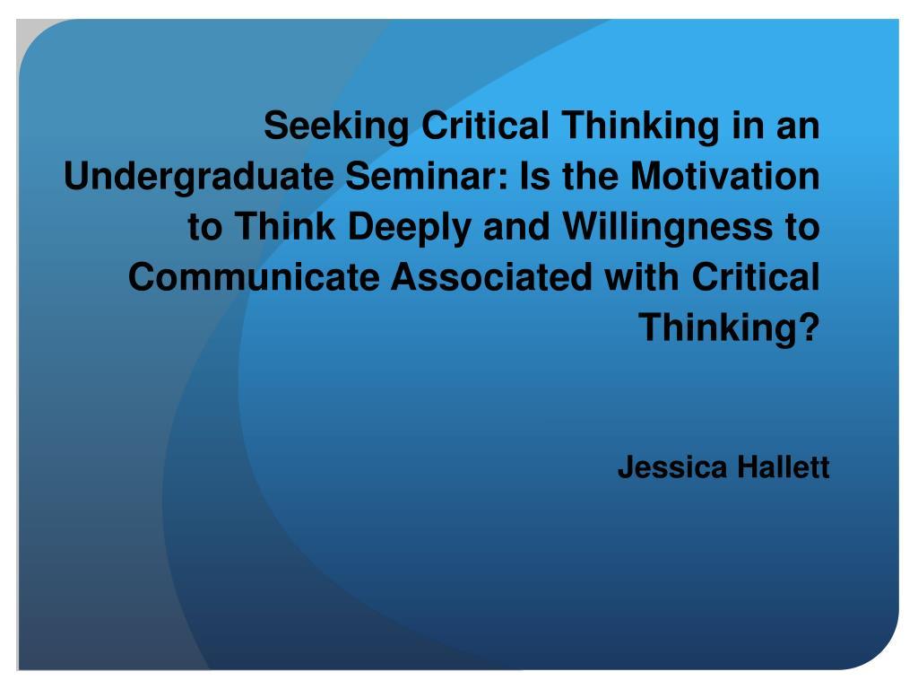 critical thinking seminar