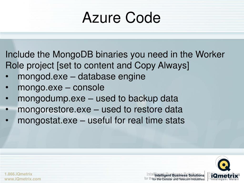 PPT - MongoDB on Azure PowerPoint Presentation - ID:2010800