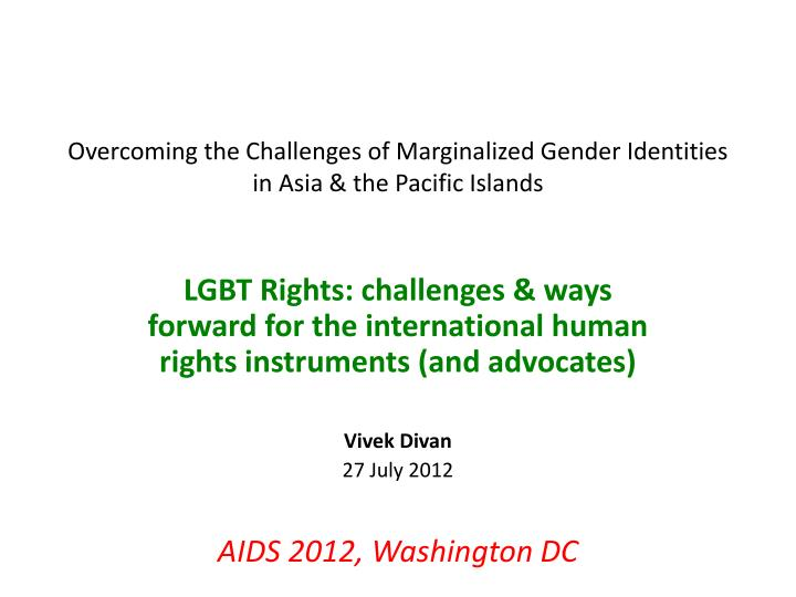 overcoming the challenges of marginalized gender identities in asia the pacific islands n.